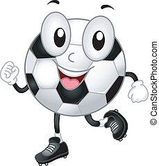 voetbal, mascotte