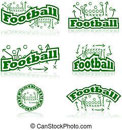 voetbal, tactiek, iconen