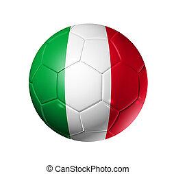 voetbal, vlag, bal, italië, voetbal