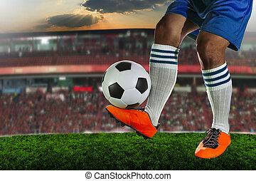 voetbal, voetballende , spelers