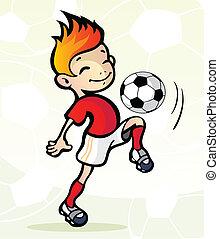 voetballer, bal