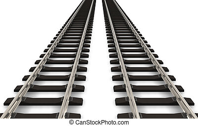 voetspooren, spoorweg, twee