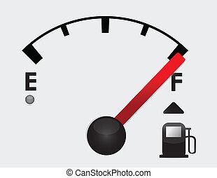volle, benzinetank