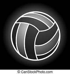 volleybal, symbool, elegant