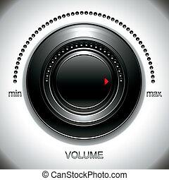 volume, groot, black , knob.
