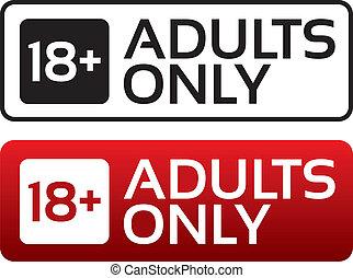 volwassenen, leeftijd, button., stamp., inhoud, alleen, limiet