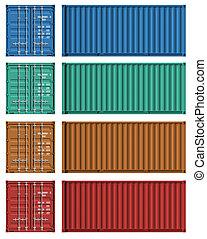 voorbeelden, lading, set, container