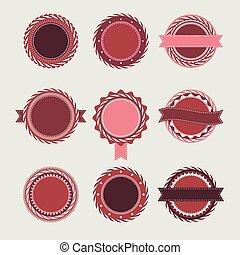 voorbeelden, ouderwetse , kentekens, wijntje