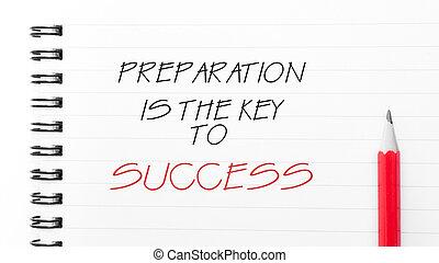 voorbereiding, succes, klee