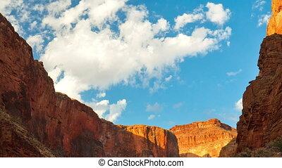 voorbijgaand, wolken, op, cañon, voornaam