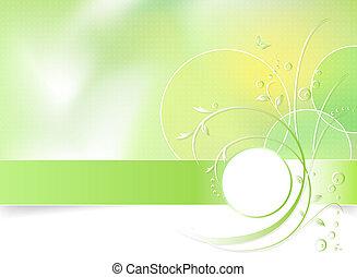 voorjaarsbloem, groene achtergrond