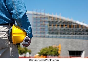 voorman, de arbeider van de bouw, bouwterrein, of