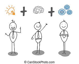 voortgang, werken, smart, idee