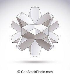 voorwerp, abstract, vector, ontwerp, 3d