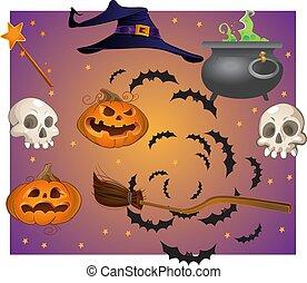 voorwerpen, halloween
