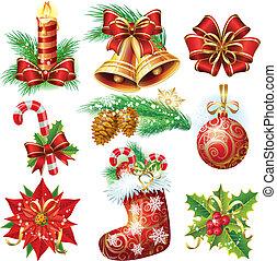 voorwerpen, kerstmis