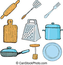 voorwerpen, keuken