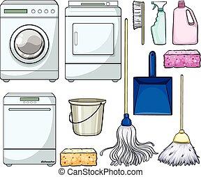 voorwerpen, poetsen