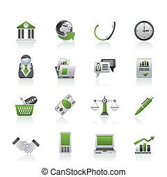 voorwerpen, zakenkantoor, iconen