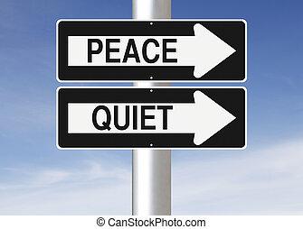 vrede, stille