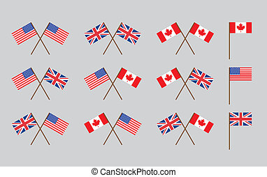 vriendschap, vlaggen