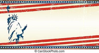vrijheid, kaart, groet