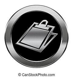 vrijstaand, achtergrond., tafel, zilver, witte , pictogram
