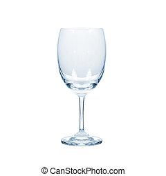 vrijstaand, achtergrond., witte , glas, water