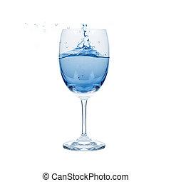 vrijstaand, bewateer ripple, fris, glas, witte , achtergrond.