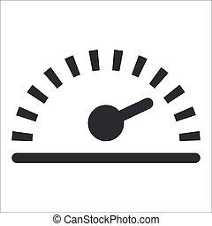 vrijstaand, illustratie, enkel, vector, snelheid, pictogram