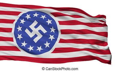 vrijstaand, vlag, seamless, amerikaan, republiek, nieuw, lus