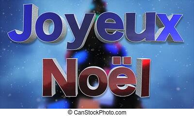 vrolijk, taal, kerstmis, achtergrond, franse , lus
