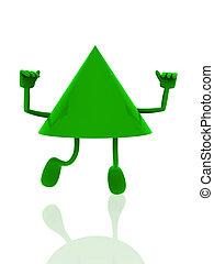 vrolijke , figuur, 3d, groene