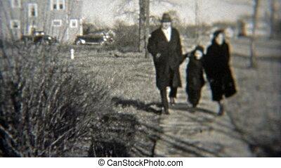 vrolijke , het overslaan, gezin, 1937: