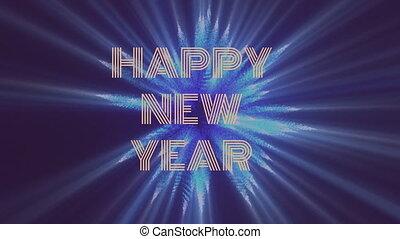 vrolijke , jaar, nieuw