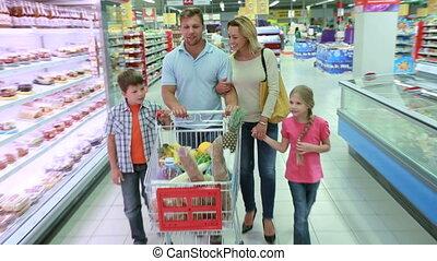vrolijke , shoppen
