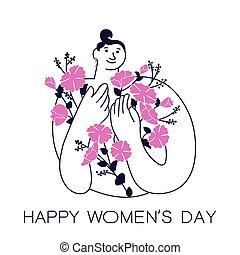 vrolijke , vrouwen, dag