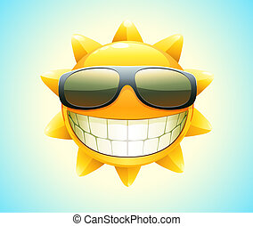 vrolijke , zon, zomer