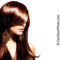 vrouw, beauty, makeup, mode, portrait., model., modieus