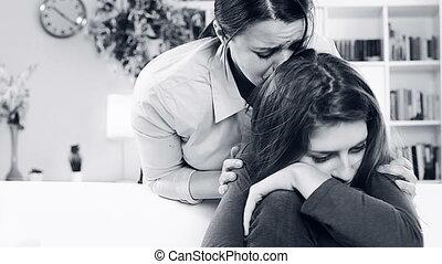 vrouw, dochter, vragen, vergeven