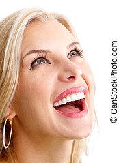 vrouw glimlachen