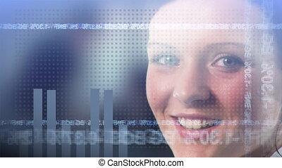 vrouw glimlachen, zakelijk