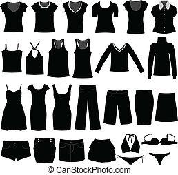vrouw, hemd, doek, slijtage, vrouwlijk, meisje