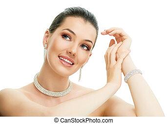vrouw, juwelen