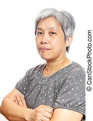 vrouw, middelbare leeftijd , azie