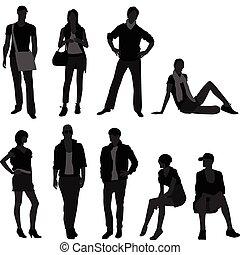 vrouw, mode, vrouwelijk model, mannelijke , man