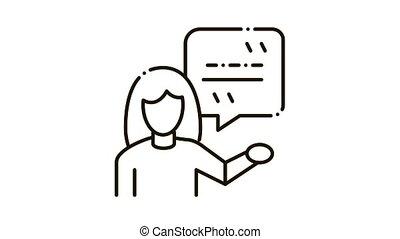 vrouw, reproductie, pictogram, illustratie, acteur