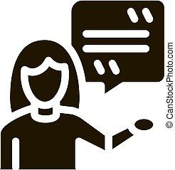 vrouw, vector, reproductie, acteur, illustratie, pictogram