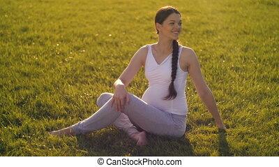 vrouw, zwangere , sporten
