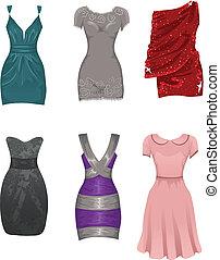 vrouwlijk, jurken